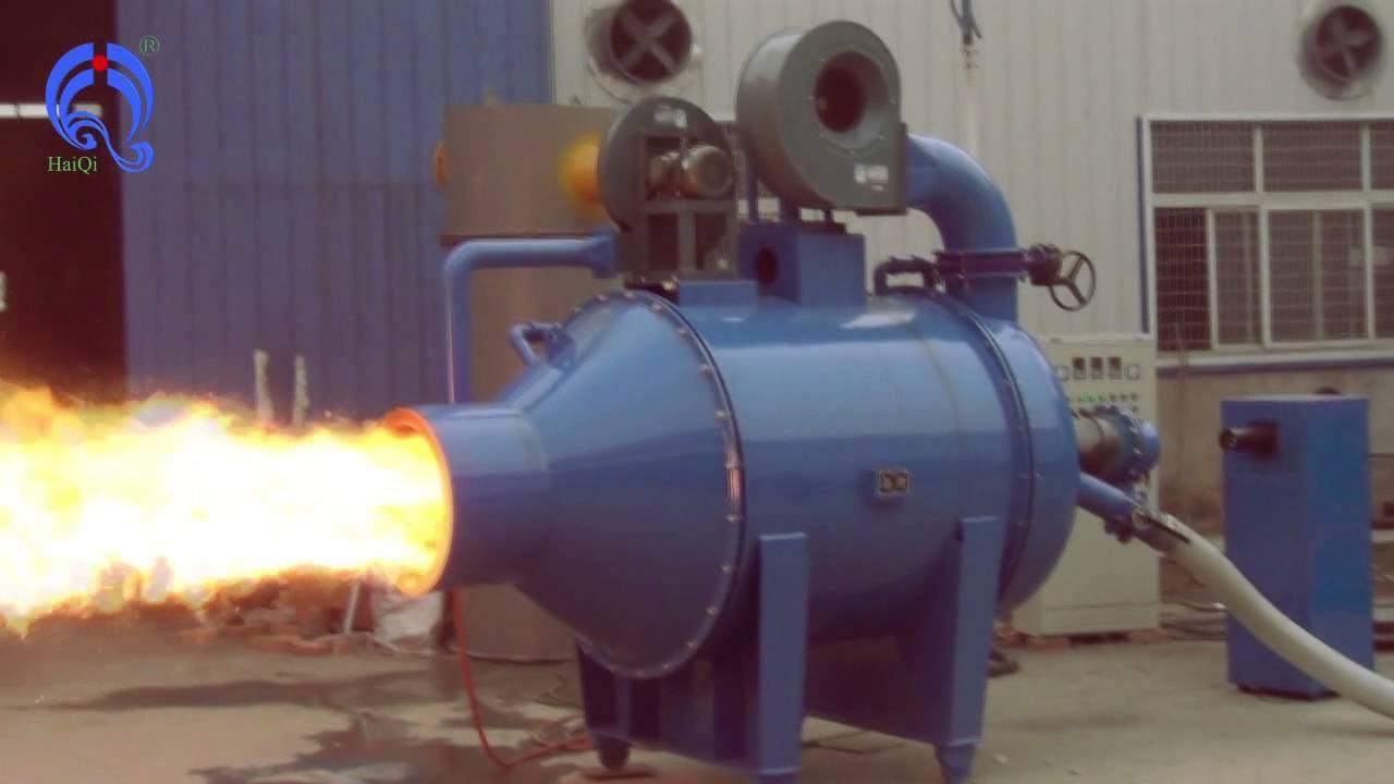 biomass wood powder/bamboo powder burner connect with steam boiler ...