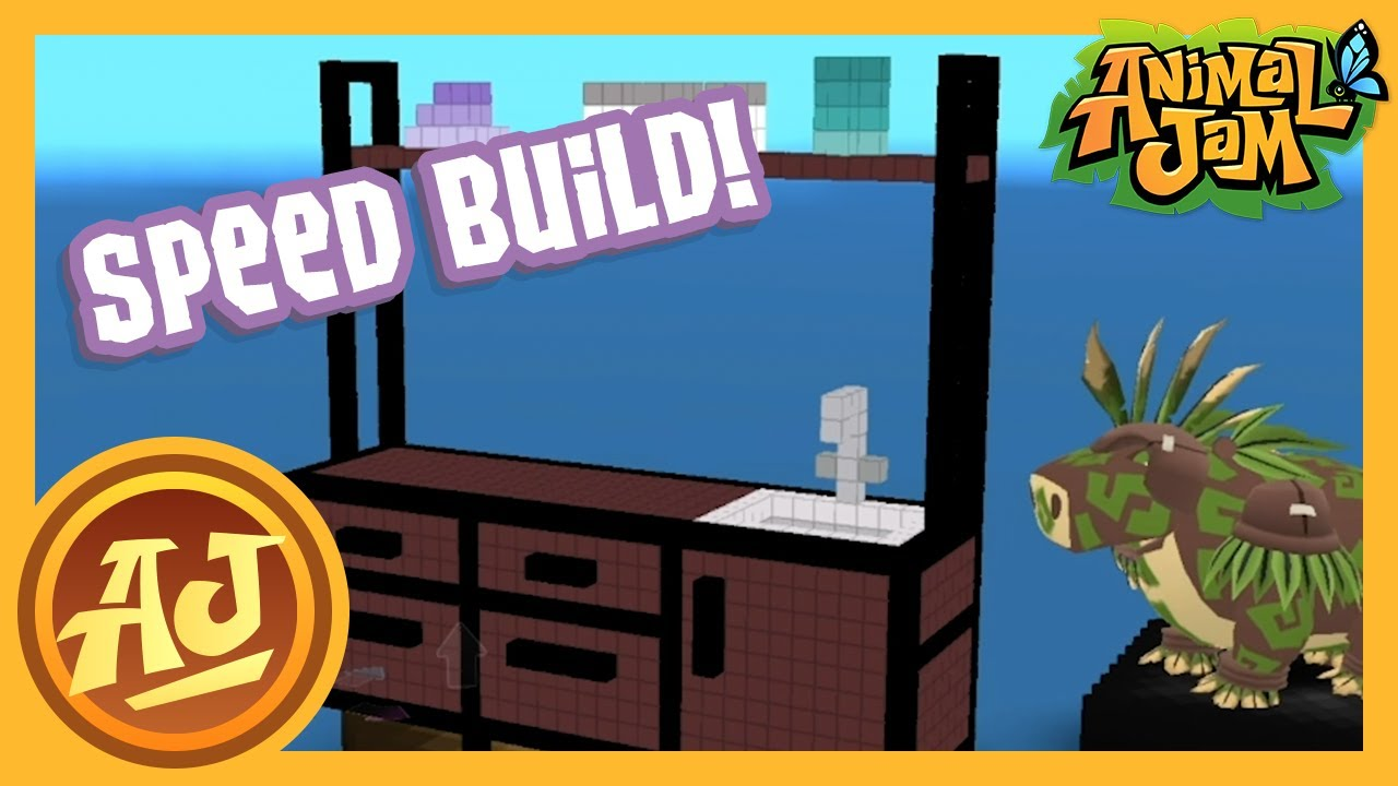Masterblock Speed Build Iron Wood Kitchenette Animal Jam Youtube