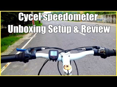 Cycle Speedometer unboxing setup and review...