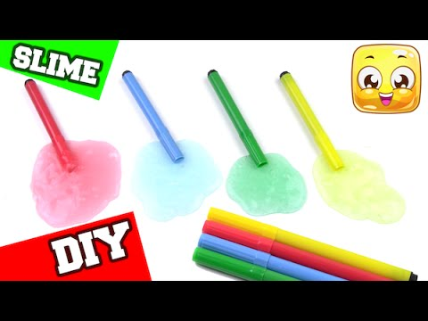 how-to-make-slime-with-markers-diy-slime-no-borax-or-liquid-starch-or-detergent
