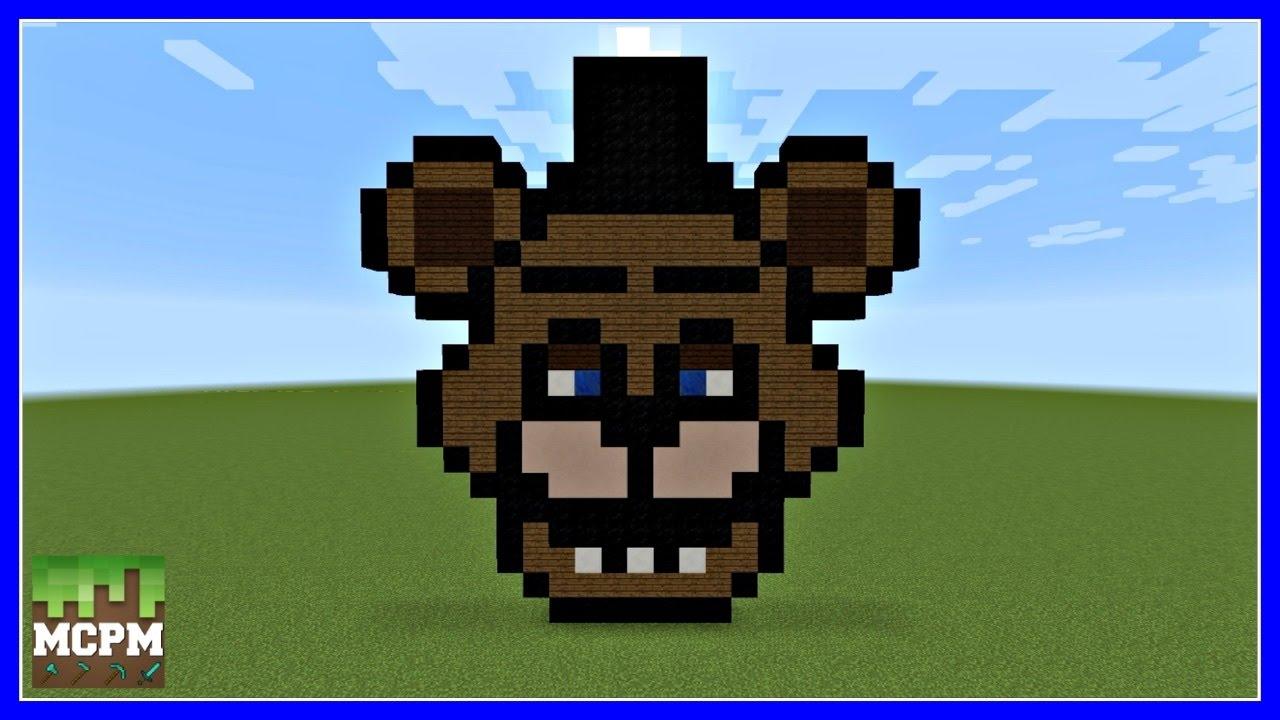 How To Build Freddy Fazbear From Fnaf Pixel Art In Minecraft
