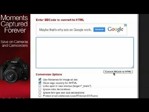 Converting BBCode To HTML : HTML Tutorials