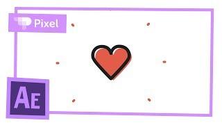 Простая анимация на день святого Валентина в After Effects | уроки для новичков