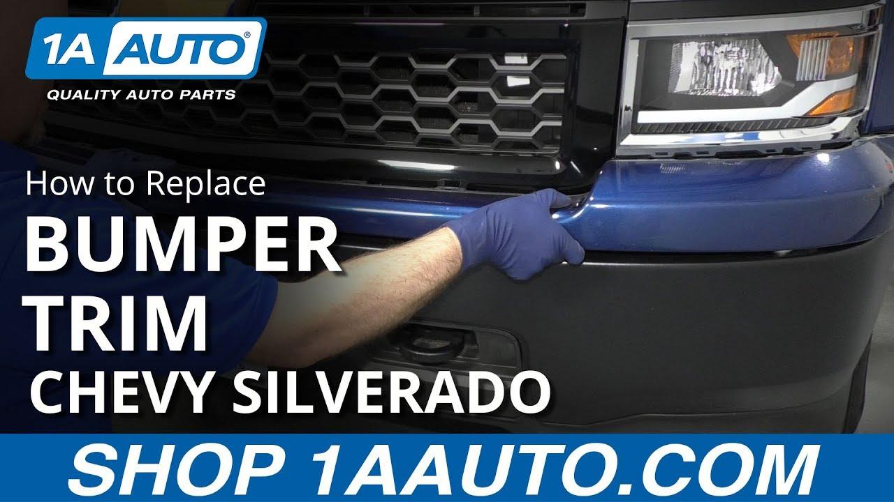 How To Remove Front Bumper Trim 14 19 Chevy Silverado Youtube