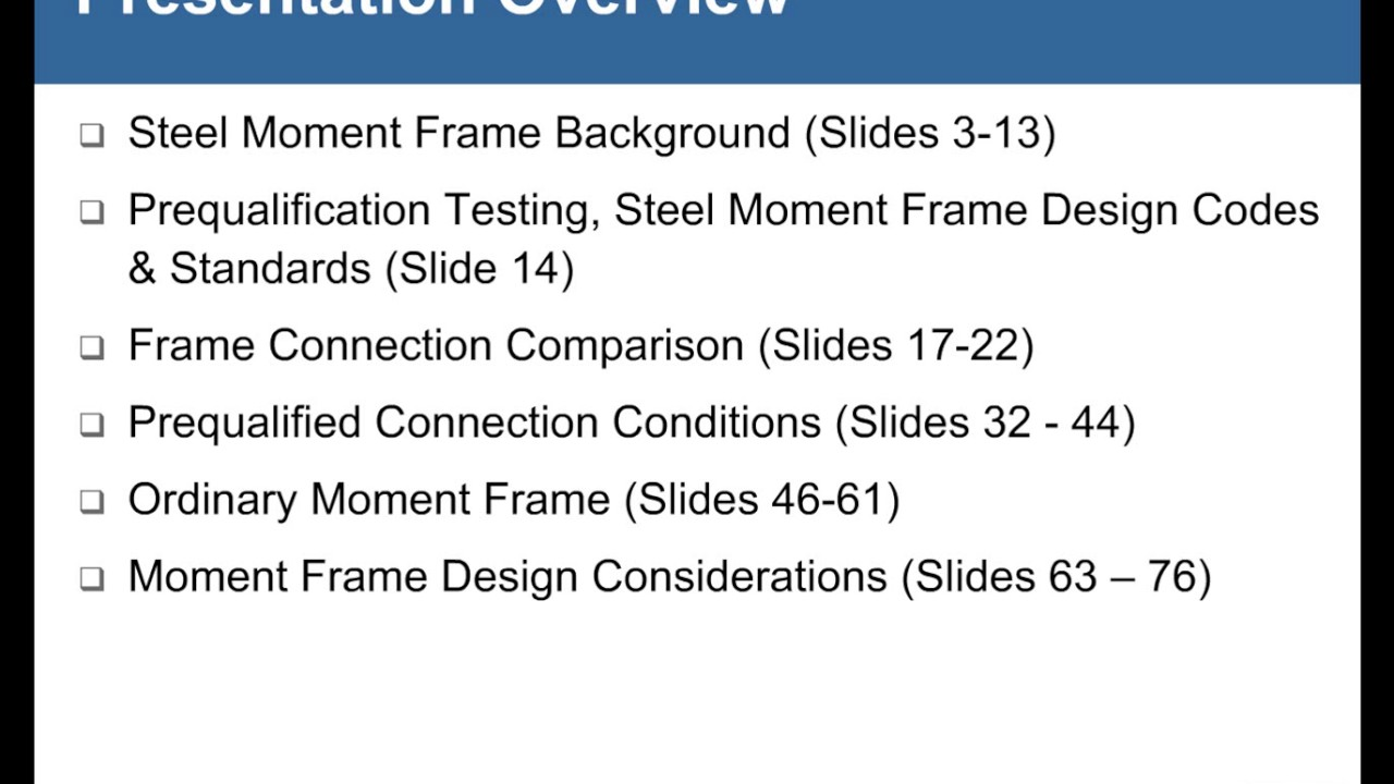Frame of Reference: Steel Moment Frames Explained - YouTube