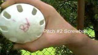 Wiffle Ball Pitching Sinker and Screwball