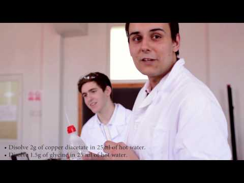 IBSB Romania:  How to make cis and trans copper glycine complex KS5 COBIS young scientist