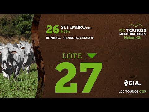 LOTE 27 - LEILÃO VIRTUAL DE TOUROS 2021 NELORE OL - CEIP