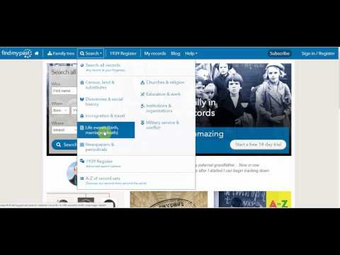 Repeat Irish Records Search Demo by Findmypast - You2Repeat