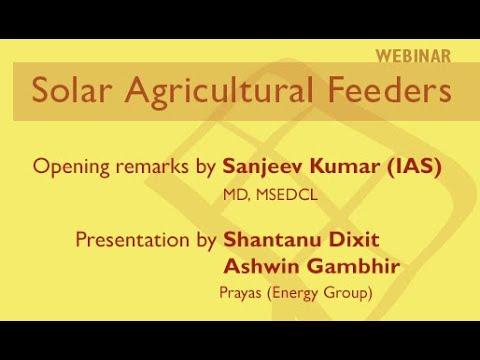 Webinar - Solar Agriculture Feeders