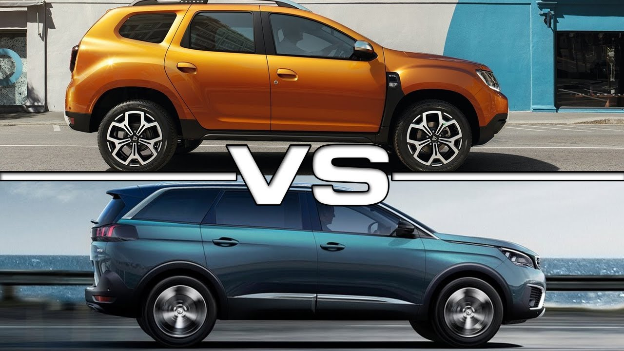2018 dacia duster vs 2017 peugeot 5008 - youtube