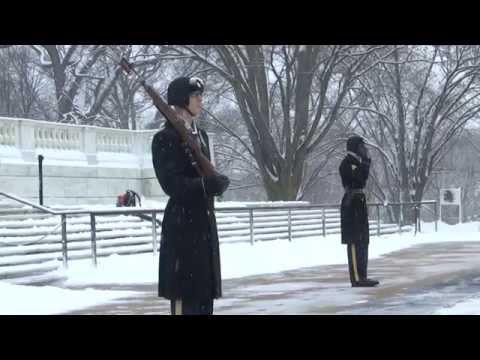 Arlington National Cemetery - First Snowfall Of 2015