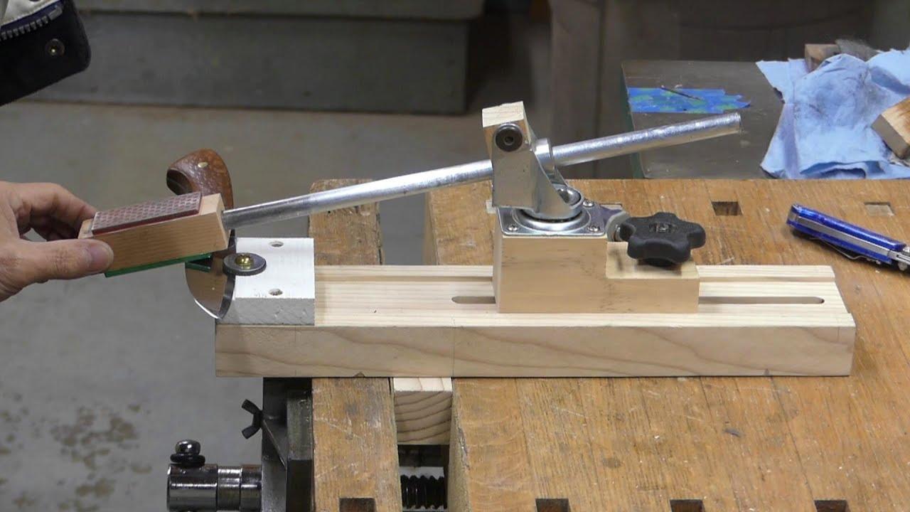 Make a knife sharpening jig - YouTube