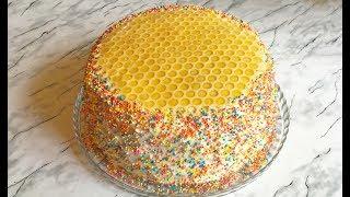 """Торт """"Медовые Соты"""" / Медовый Торт / Honey Cake Recipe / Пошаговый Рецепт (Очень Вкусно)"""