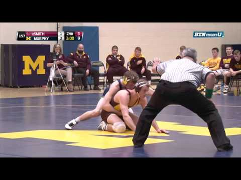 Central Michigan Chippewas At Michigan Wolverines Wrestling: 157 Pounds - Smith Vs. Murphy
