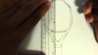 How to draw a Tennis Racket