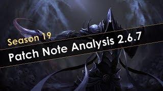 Diablo 3 Season 19 Patch Note Analysis 2.6.7