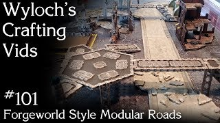 How to Make Interlocking Roads Forgeworld Style for Warhammer 40k