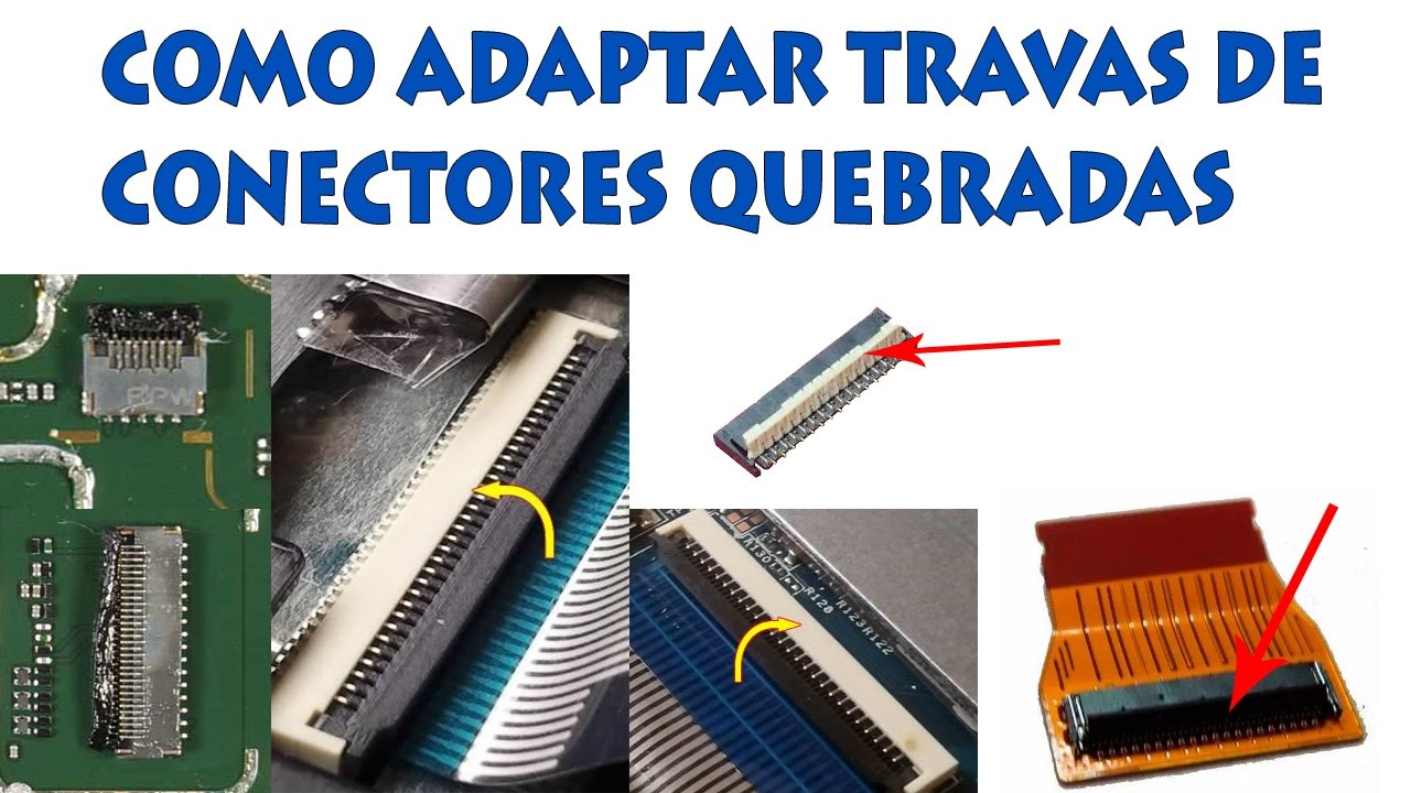 Consertar Trava Quebrada De Conector Display Lcd Touch