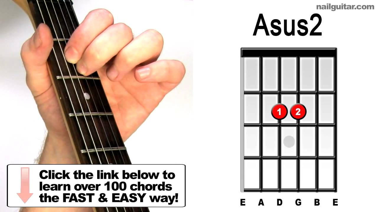 How To Play Asus2 Suspended Guitar Chords Lesson Youtube