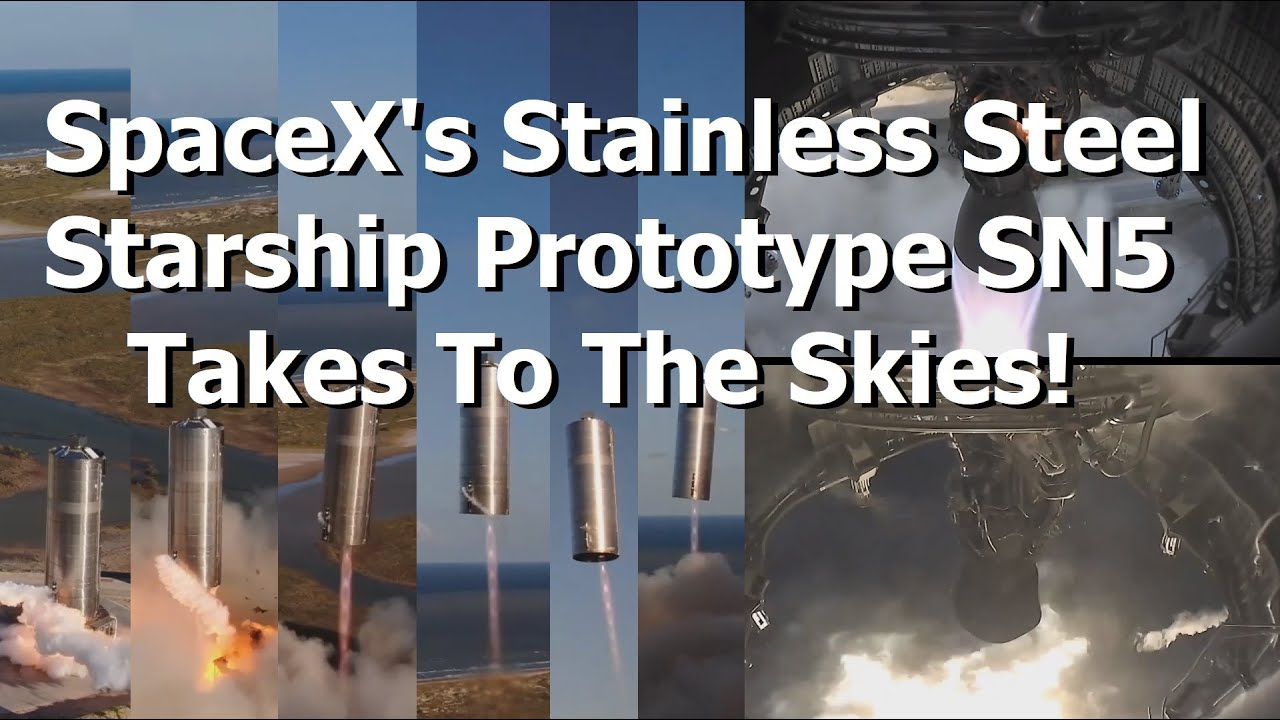 SpaceX's Shiny Stainless Steel Starship Prototype Takes Flight For The First Time