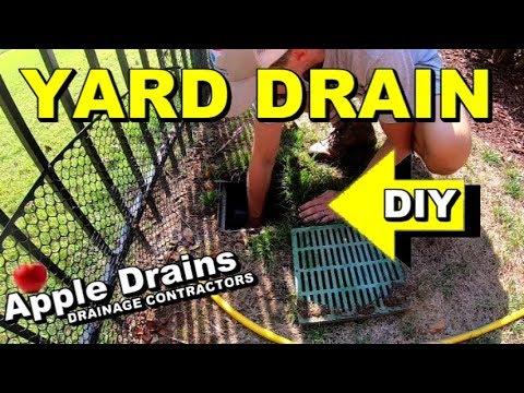 Yard Drain Maintenance, Save 1000's, Apple Drains, Charlotte North Carolina