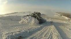 Lumenkaatopaikka, snow dump site, Oulu 2013