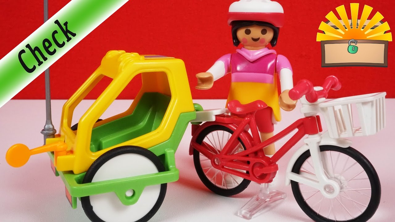 fahrrad mit kinderanh nger 6388 playmobil auspacken. Black Bedroom Furniture Sets. Home Design Ideas