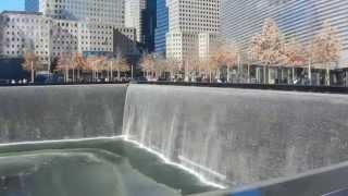 9/11 Memorial fountains at Ground Zero in New York