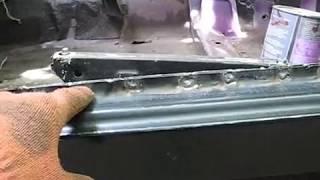 ВАЗ 2104 замена порогов своими руками видео
