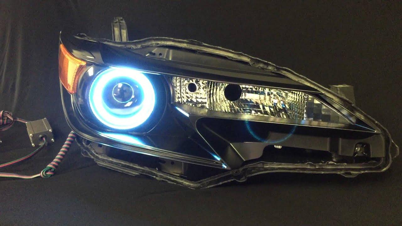 Scion Tc Headlights >> 2014-2015 Scion tC Headlights with RGB Halo's - YouTube