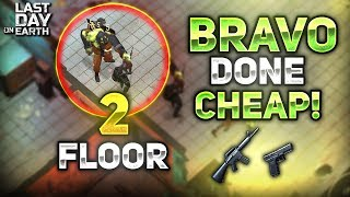 CHEAPEST WAY TO CLEAR BUNKER BRAVO FLOOR 2! MAP GUIDE INCLUDED! - Last Day on Earth: Survival
