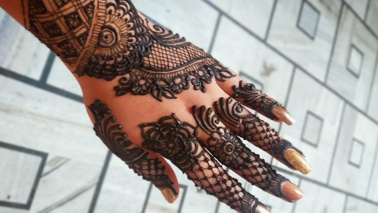 Easy Arabic Back Hand Mehndi Design for Navratri   Mehndi Design   Smriti Shrivastav
