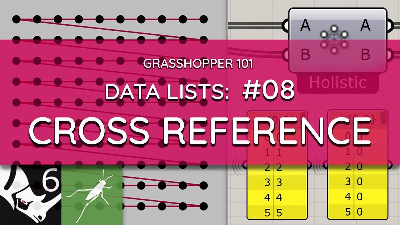 Grasshopper 101: Data Lists   #08 Cross Reference   Data List Matching