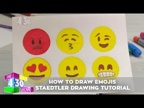 how to draw kiss emoji