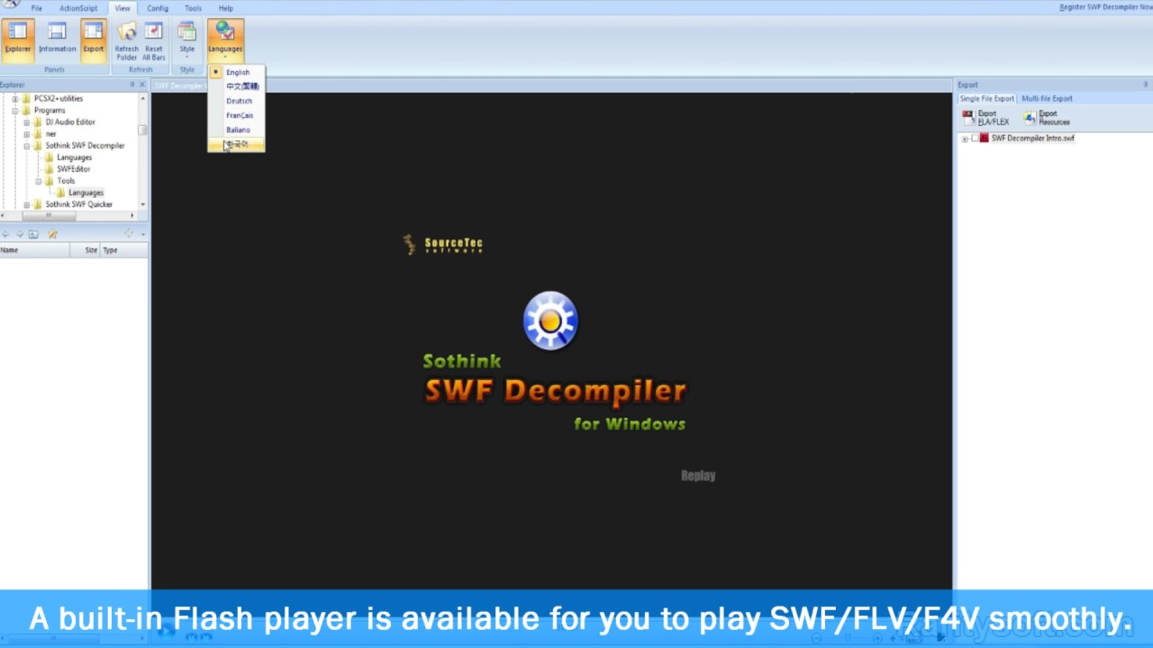 SWF Decompiler/Flash to HTML5 Converter - Sothink Swf Decompiler