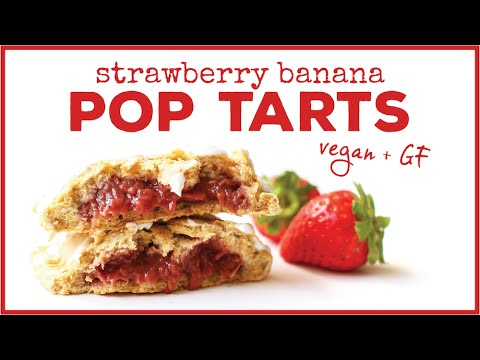 Vegan Strawberry Banana Pop Tarts // HCLF, gluten-free, oil-free
