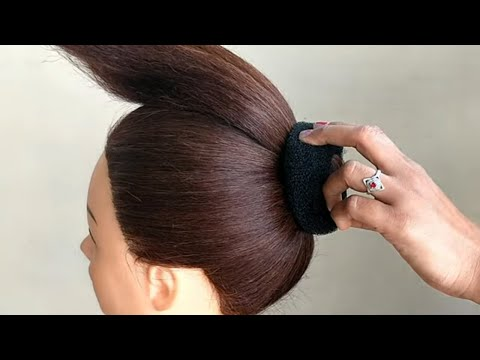 Simple Bun Hairstyle With Trick || Simple Hairstyle For Everyday  || Everyday Bun Hairstyle thumbnail