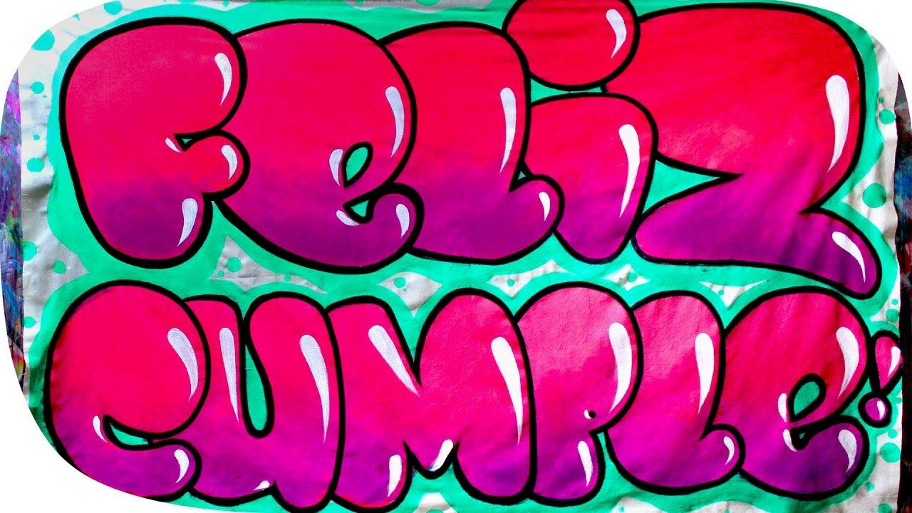 Haciendo una manta de feliz cumplea os youtube for Formas de letras para cumpleanos