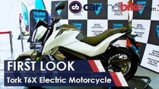 Tork T6X Electric Motorcycle First Look NDTV CarAndBike