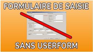 CRÉER UN FORMULAIRE DE SAISIE SANS USERFORM - DOCTEUR EXCEL