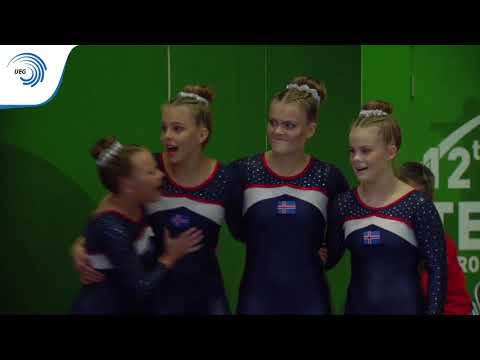 Iceland - 2018 TeamGym European bronze medallists, junior women's team
