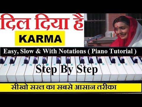 dil-diya-hai-jaan-bhi-denge,-karma,-piano-tutorial-easy,-slow,-with-notes-(patriotic-song)