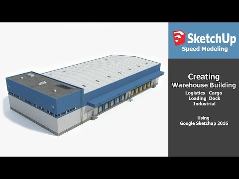 Speed 3D Modeling - Industrial Building