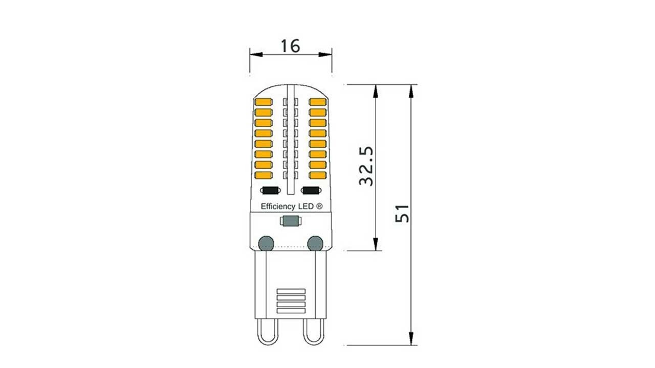 Type De Culot Ampoule Ampoule Piccoled à Culot G9 230 Volts 64 Led Smd Type 3014