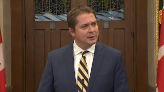 Andrew Scheer says throne speech 'an insult' to the west