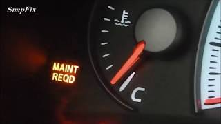 how to - Toyota Camry maint reqd light reset 2002, 2003, 2004, 2005
