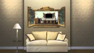 Unique Tv Frame To Hide A Flat Screen - As Seen On Tv