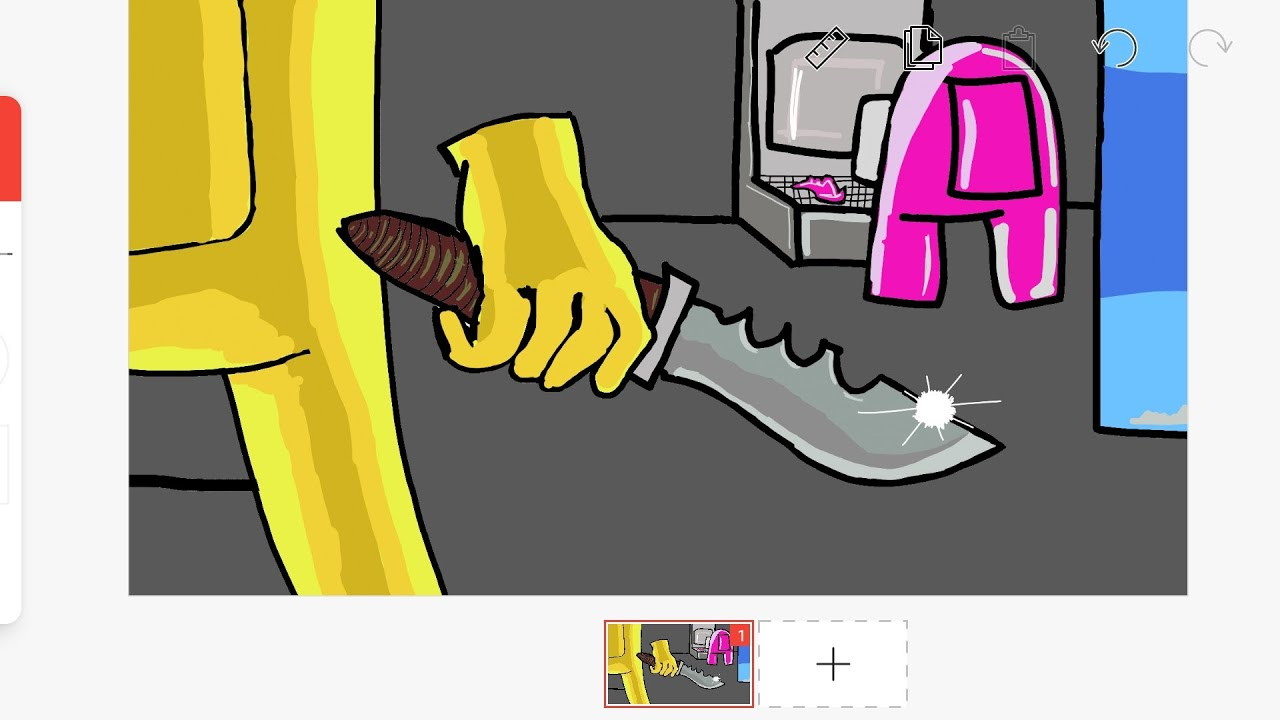 Download How to draw impostor vs crewmate | Among us art #2 | Flipaclip