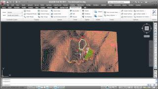 AutoCAD - Google Earth: Import terrain and create contour lines